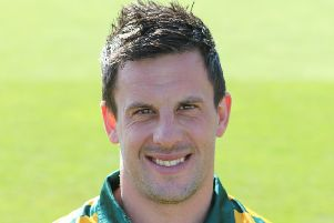 Nottinghamshire Outlaws captain Steven Mullaney.