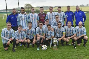 Carlton Athletic, winners of the West Yorkshire League Premier Division for the third year running. PIC: Steve Riding