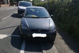 This Ford Focus driver got slapped with a parking fine in Garforth