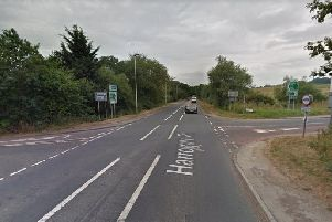 A motorcyclist from Leeds and a driver from Otley have been rushed to hospital with serious injuries after a crash.
