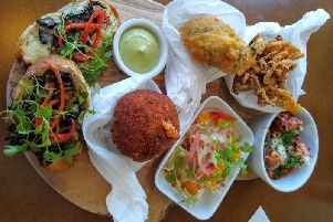 Gusto Grande, a large sharing plate made up of six of the dishes available
