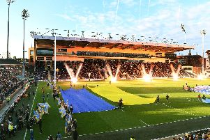 Emerald Headingley Stadium at the opening of the new north stand. It is now a world class venue.