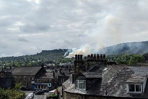 Fire services were called to another fire at Ilkley Moor. Picture: Twitter/Matthew Harris