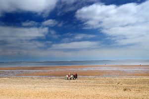 The beach at Cleethorpes.