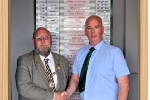 Coun Bob Roe's last official duty attending Carnforth Cricket Club to view some of the amazing upgrades made by the club, including disabled toilets which have been made possible with the support of Carnforth Town Council.