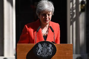 Theresa May's resignation speech. Picture: Getty Images.