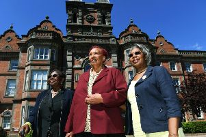 Betsy Johnson, Nettie White and Yvonne English are reunited at The Thackray Medical Museum as part of the Eulogy Project