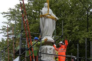 Bringing the statue home