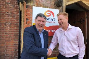 Peter Taylor (left) with Galloway's current CEO Stuart Clayton