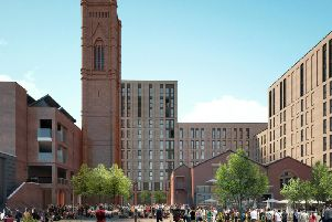 The engine house is the lower level building to the right of this computer generated image of the the area could look like. Image: Richardsons