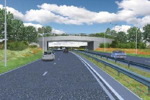 An artist's impression of how the East Leeds Orbital road will look.