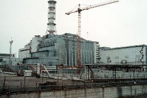 Chernobyl nuclear power plant's fourth reactor November 16, 2000 destroyed as a result of the April 26,1986 explosion.