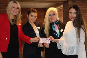 Left to right are the Victoria McCann, Kate Aspinall, Jenna Atkinson and Rebecca Patience, of Harrison Drury's Clitheroe team.