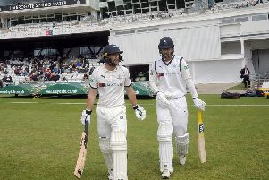 Adam Lyth and Will Fraine open the batting for Yokshire against Essex last week.