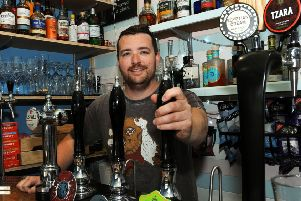 Ben Stephenson of Brimming with Beer which has just scooped a CAMRA award.