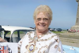 Councillor Barbara Allen, pictured during her previous term as Mayor of Seaham in 2013/14.