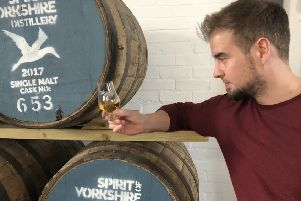 EVENING: Spirit of Yorkshire's Whisky Director, Joe Clark.