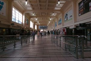 Leeds City Station's northern concourse in 2007.