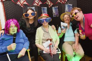 Jordan Dean, Audrey Harmer, Betty Battersby and lifestyle co-ordinator Lorraine Harris-Lee, at Ash Tree House care home, Hindley, get ready to host a singing competition, Ash Tree Fest
