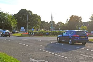 8 August  2018......    Residents angry at proposals to remove Lawnswood Roundabout, on the ring road at West park, and change into a multi-lane traffic light junction. They've launched a campaign to 'Save Lawnswood Roundabout'. Picture Tony Johnson.