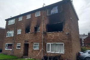 The flat was entirely on fire.