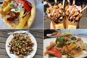 Some of the food on offer at this year's Leeds Food and Drink Festival.