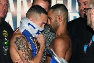 The fight is due to take place on Saturday night.