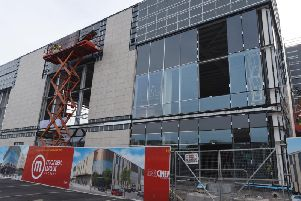 Work is at an advanced stage on the Market Walk extension
