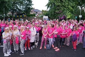 Participants ready to set off on the St John's Hospice Moonlight Walk 2019. Photo: Keith Douglas Photography