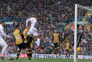 Jay-Roy Grot converts his only Leeds United goal to date in a 2-1 defeat to Sheffield Wednesday.