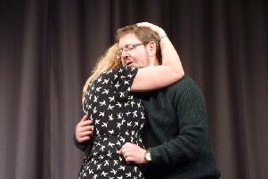 Anthony Satterthwaite and Laura Harrison as Wendy and Peter in Lucky Day
