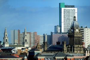 Skyline of Leeds, in West Yorkshire, whereby later today Leeds City Council are debating whether to potentially bid for the title of European Capital of Culture. Date:7th January 2014. Picture James Hardisty, (JH1001/83g).