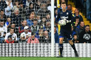 DETERMINED: Leeds United's Bailey Peacock-Farrell.