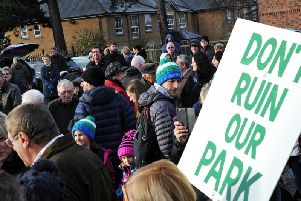 The protest on November 10 to 'Save Our Park'.
