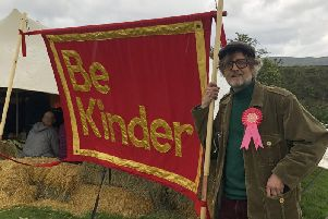 Jarvis Cocker in Edale ahead of the launch of the Be Kinder art trail. The National Trust art project is centred on Kinder Scout and is aimed at getting more people to think about the conservation of the countryside.