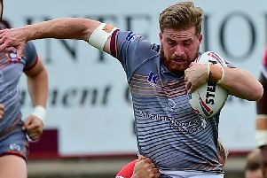 Niall Walker crossed for a second half try but was unable to prevent Batley Bulldogs slipping to a narrow defeat away to Swinton last Sunday. Picture: Paul Butterfield