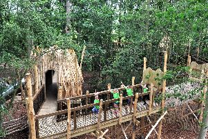 Skelf Island is a treetop play area on the Castle Howard estate