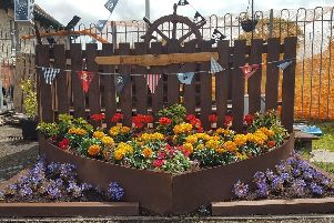 A flower display at Regent Park in Morecambe, where the Friends of Regent Park held an event for the community.