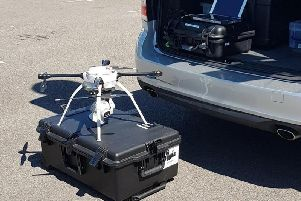The drone being used to target hotspot areas