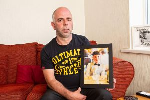 Robert Brown pays tribute to his son Jamie who was murdered at a Halloween party in Halifax in October last year.
