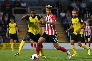 Callum Robinson makes his debut for Sheffield United. Picture: James Wilson/Sportimage