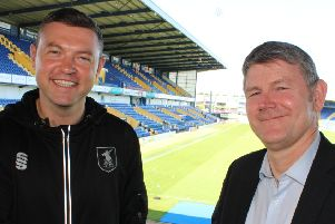 Boss John Dempster and assistant Lee Glover - no rush to add further signings.