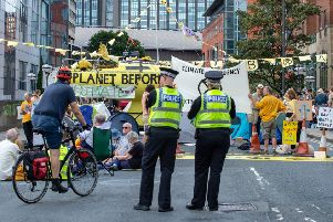 Members of Extinction Rebellion protest on the streets