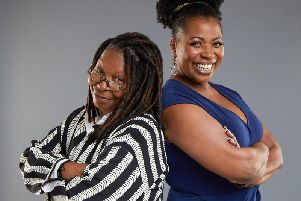 Whoopi Goldberg and Brenda Edwards. PIC: Matthew Murphy