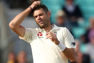 England's James Anderson: Not being risked.