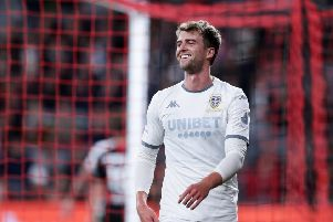 Down Under: Patrick Bamford reacts after a missed opportunity on goal during the match between the Western Sydney Wanderers and Leeds United at Bankwest Stadium. Picture: Matt King/Getty Images