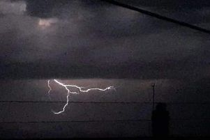 The storm over Church Warsop last night. Picture: Sarah Shelley