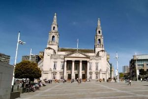 The meeting took place in Leeds Civic Hall.
