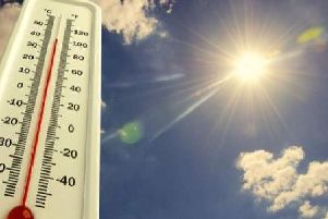Today was the hottest day ever recorded in the county.