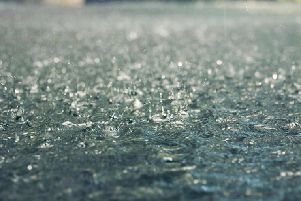 Heavy rain could take hold of the county today.